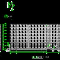 10400平米八层框架宿舍楼毕业设计(计算书、建筑、结构图)