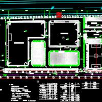 大型电器工厂厂房总平面设计图