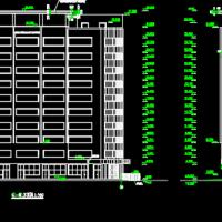 新疆某9508平米高层框剪结构办公楼建筑施工图