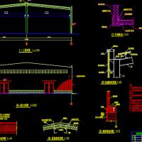 西安市单层门式刚架厂房全套结构毕业设计(含吊车)