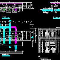 某县水厂给排水工程毕业设计(含计算书 V型滤池 泵房等)