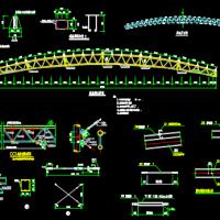30米跨钢结构管桁架厂房结构施工图