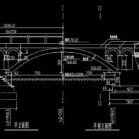 拱桥施工图纸
