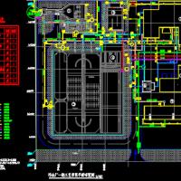 污水厂一期工艺管网平面布置图
