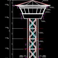 某钢结构瞭望塔设计CAD图纸