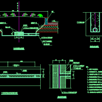 市政道路中央绿带排水盲沟CAD设计图