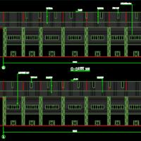 空间三角管桁架结构体育馆建筑及结构全套图