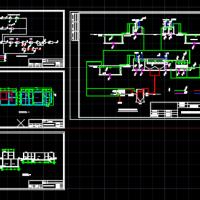 电镀废水处理工艺设计CAD图