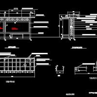 某市公交候车亭建筑设计施工图