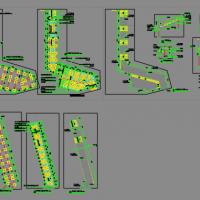 钢结构木平台及栈道施工图纸