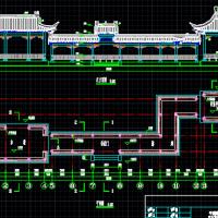 仿古建筑亭廊水榭设计施工图