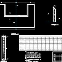 农田水利工程矩形量水堰设计图纸