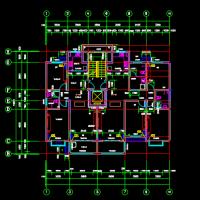 小高层住宅楼户型图(两室两厅与三室两厅组合)