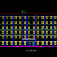 7153平方米6层综合办公楼毕业设计图纸(含计算书)