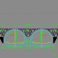 某地连拱隧道设计施工图(包含计算书)