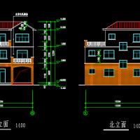 346平米三层框架结构私人别墅建筑结构全套施工图