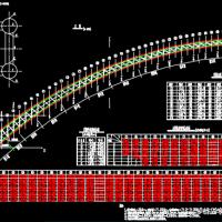 某国道茅草街钢管混凝土拱桥设计图纸