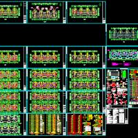 十五层商住楼水暖电安装工程预算书(含分析表及全套图纸)