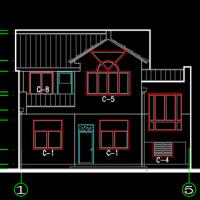 12.6X10.2米农村2层房屋建筑设计图