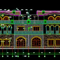 沈阳仙湖住宅3层叠拼别墅建筑设计施工图