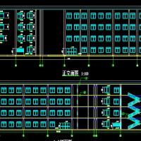 五层大学食堂框架结构全套建筑施工图(含计算书,毕业设计)