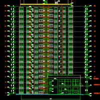 湖南永州6833平米17层住宅楼建结水电全套图(含预算)