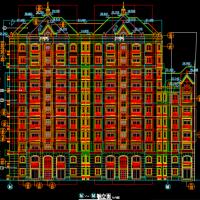 广州6742平米11层框剪结构住宅楼全套施工图纸(建结水电全专业)