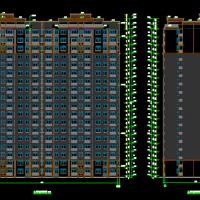 合肥7361平米18层框剪结构住宅楼全套施工图纸(建结水电)