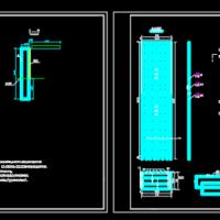 桩板式挡土墙构造CAD图纸
