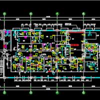 上海某生物医药厂房车间净化空调系统设计图纸