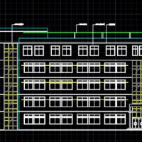 五层框架中学教学楼建筑设计方案图
