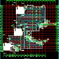 天津某住宅小区地下车库建筑设计施工图