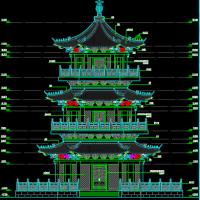 骨灰存放塔建筑及结构全套施工图纸