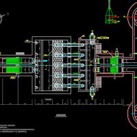 格栅提升沉砂池CAD设计图
