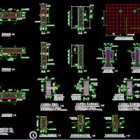 多种形式结构抗震加固构造大样CAD图