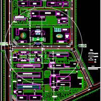 屠宰场总平面规划图