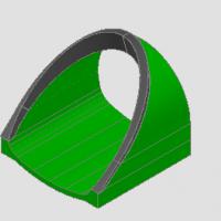 隧道帽檐斜切式洞门立体CAD图