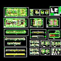 钢结构屠宰厂及冷库设计建筑图纸