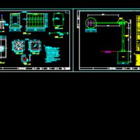 道路工程单悬臂标志构造CAD详图