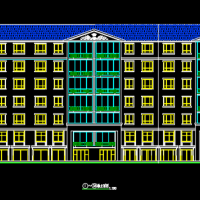 某住宅小区6层坡屋顶住宅楼建筑设计CAD施工图