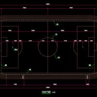 现代标准300米运动场+足球场工程图