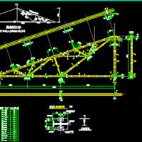 三角形钢屋架(20m跨)