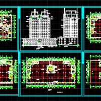 吉林某地高校博士后公寓建筑图