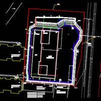 河北某地16米深基坑桩锚加土钉墙支护施工图(含设计计算书)