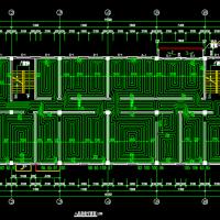 小型办公楼地暖设计CAD图
