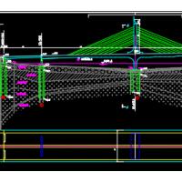 厦门银湖大桥结构施工图(部分斜拉桥)