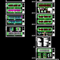 485平米框排架结构危废品库房建筑结构施工图纸