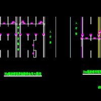 城市道路26m及35m路段标准断面标线布置大样CAD图