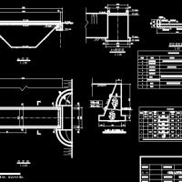 某简易人行桥设计图(多种跨度)