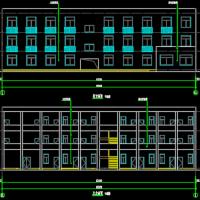 三层框架结构社会救助站建筑设计施工图